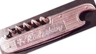 Taschenmesser Flaschenöffner Korkenzieher F.  Rodenburg Unausgeklappt 9 Cm L. Bild