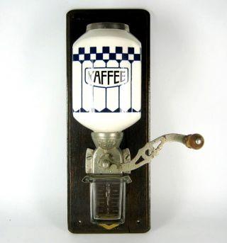 Jugendstil Keramik Kaffeemühle / Wandkaffeemühle Olbrich Ära Art Nouveau Era Bild