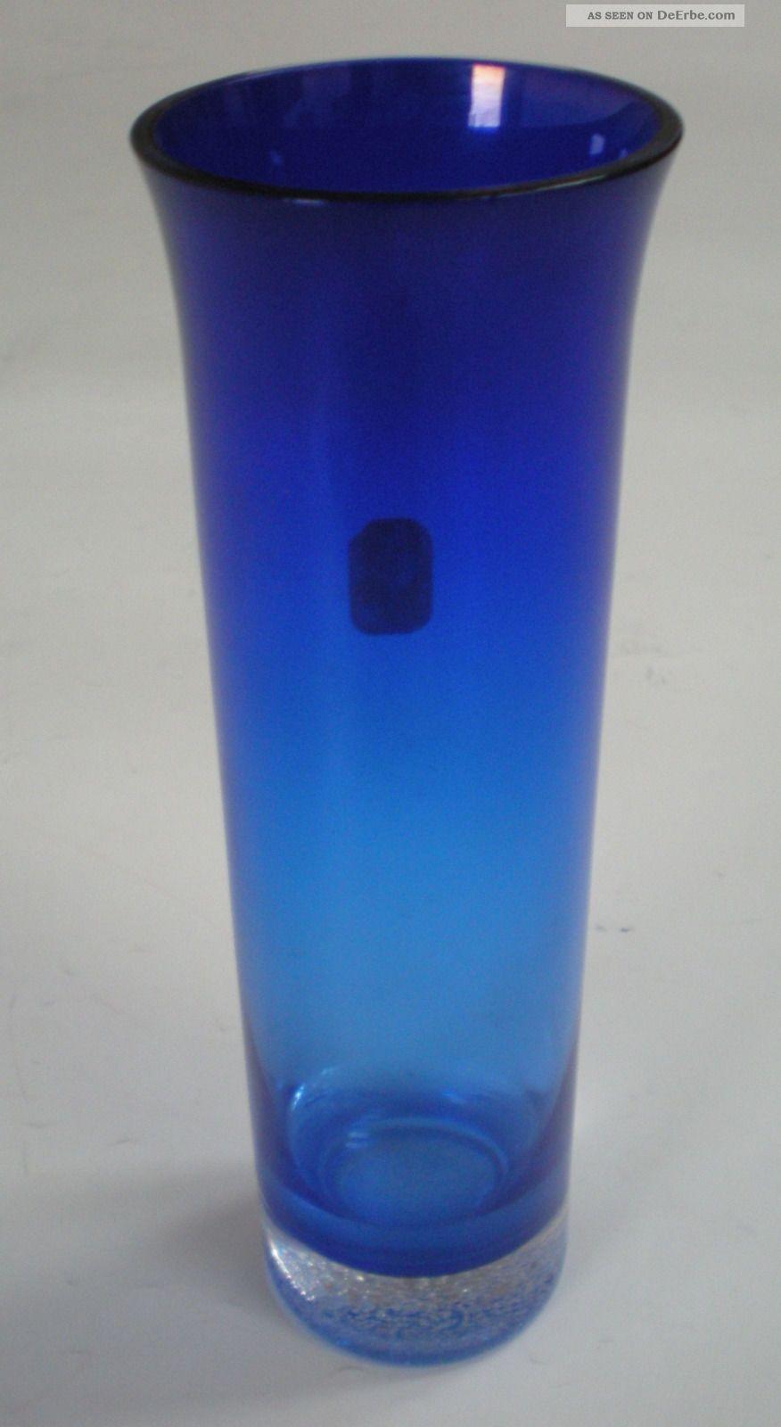 vase glas blau veb glaswerke harz kristall derenburg. Black Bedroom Furniture Sets. Home Design Ideas