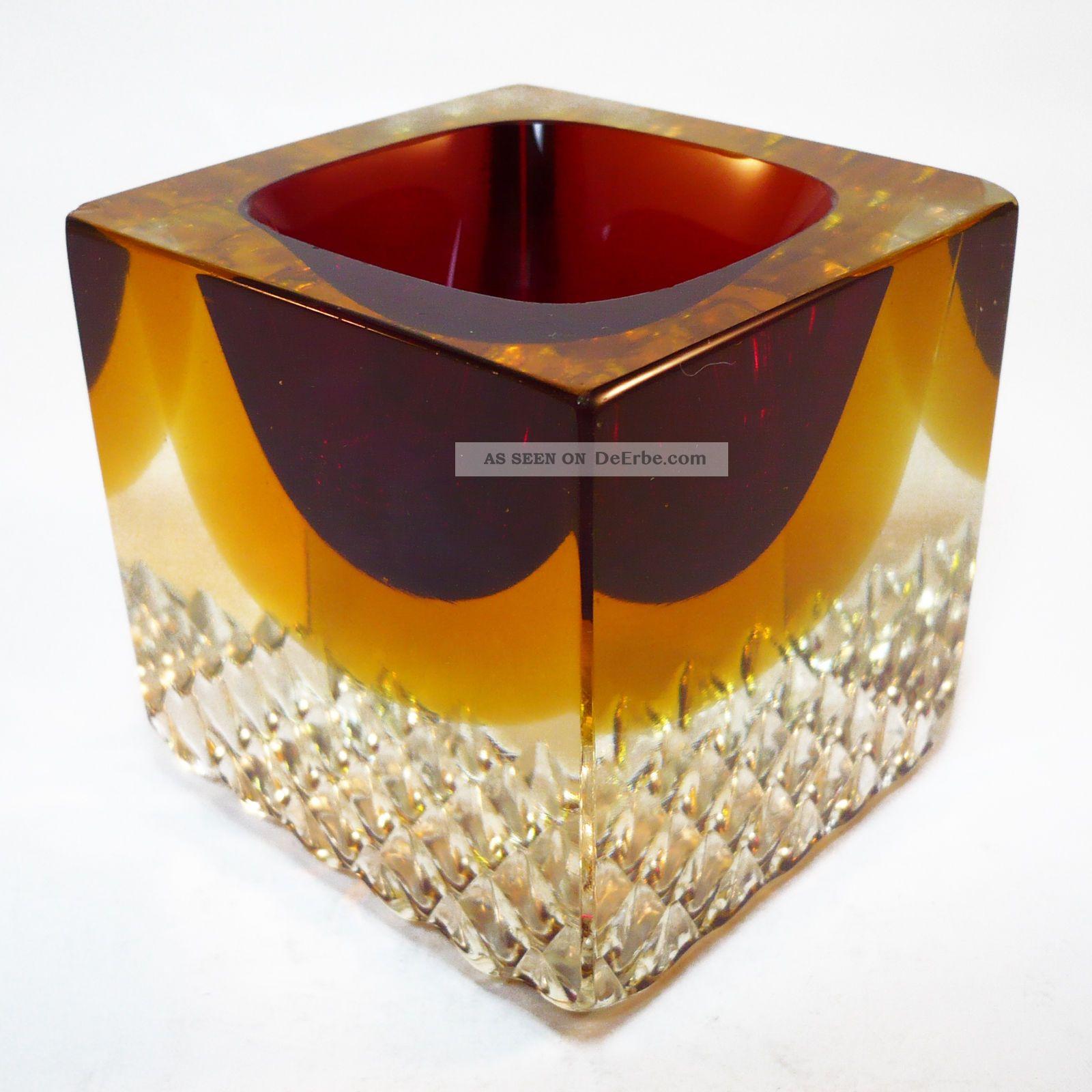 murano glas schale block vase sommerso seguso. Black Bedroom Furniture Sets. Home Design Ideas