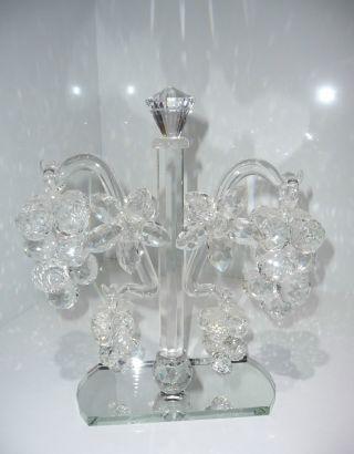 Großer Kristall Ständer Mit Kristall Weintrauben 2,  2 Kg - Hingucker - Bild