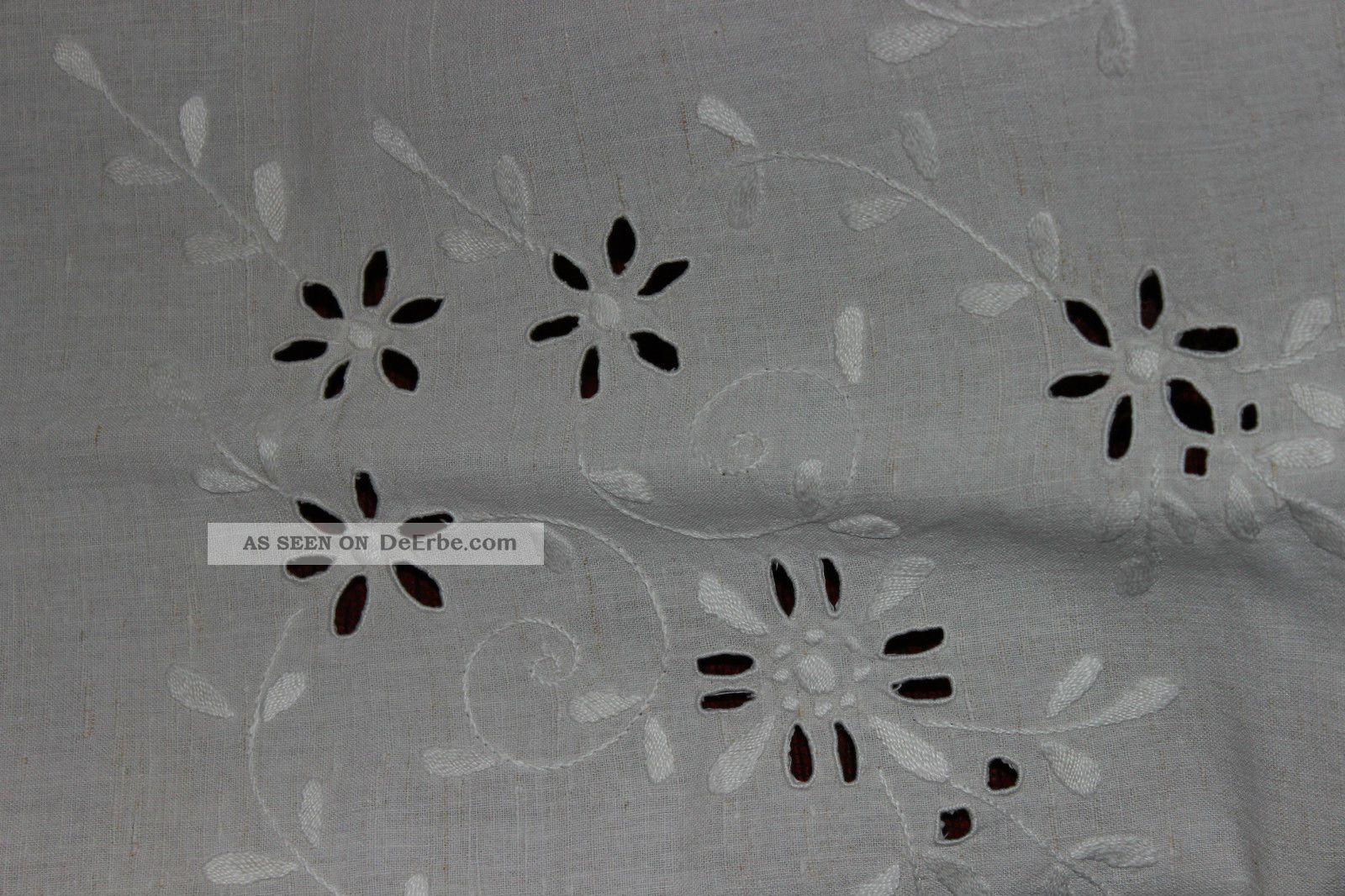 weihnach idee antik leinen tischdecke blumen loch. Black Bedroom Furniture Sets. Home Design Ideas