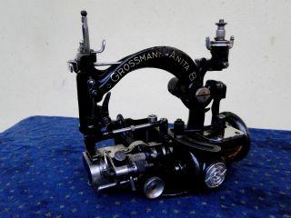 Schöne Antike Hutnähmaschine Von Grossmann Dresden - Anita B - Hut Nähmaschine Bild