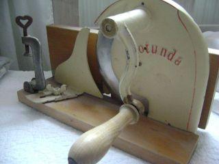 Brotschneidemaschine Rotunda Antik Alt Shabby Chic Bild