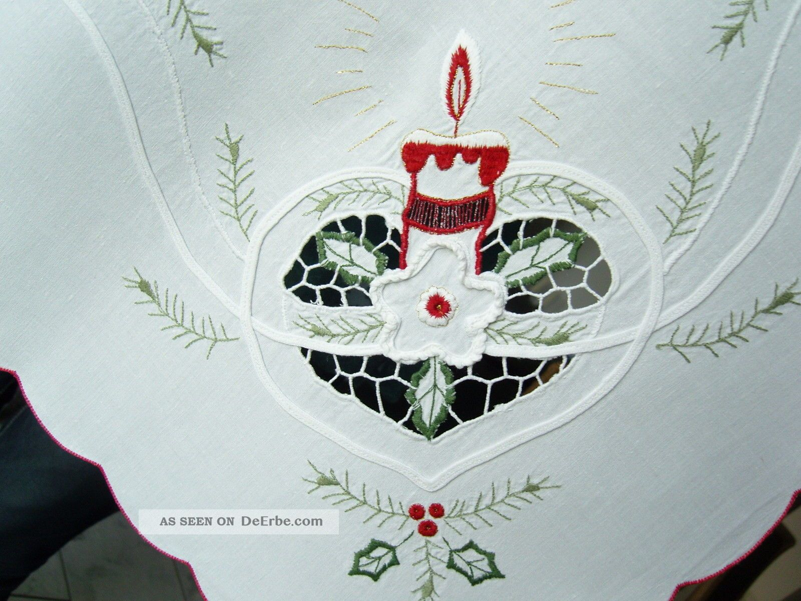 wundersch ne mitteldecke weihnachten nachlass wei. Black Bedroom Furniture Sets. Home Design Ideas