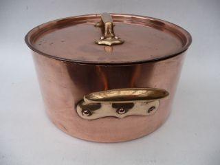 Antiker Kupfertopf Kupferkessel Alter Kochtopf 4,  25 Kg Kupfer 26 Cm Bild