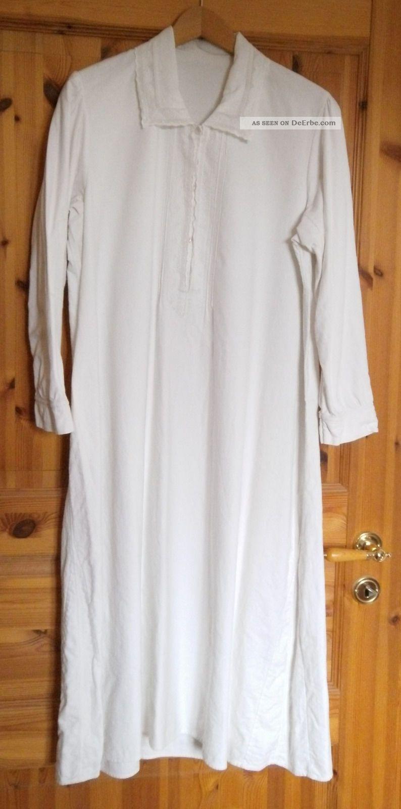 newest collection dd72f 10e94 Warmes Langes Nachthemd Mit Spitze, Gr. 40 - 42