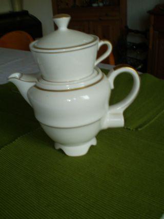 Kaffeemaschine Aromator,  Percolator 1a Mit Goldrand Einwandfrei,  Rarität Bild
