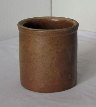 Alter Kleiner Steingut - Topf / Braun - Alte Oberlausitzer Töpferware,  Ton,  Keramik Bild