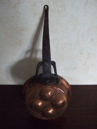 Kupferpfanne,  Altes Dekoratives Sammlerstück Bild