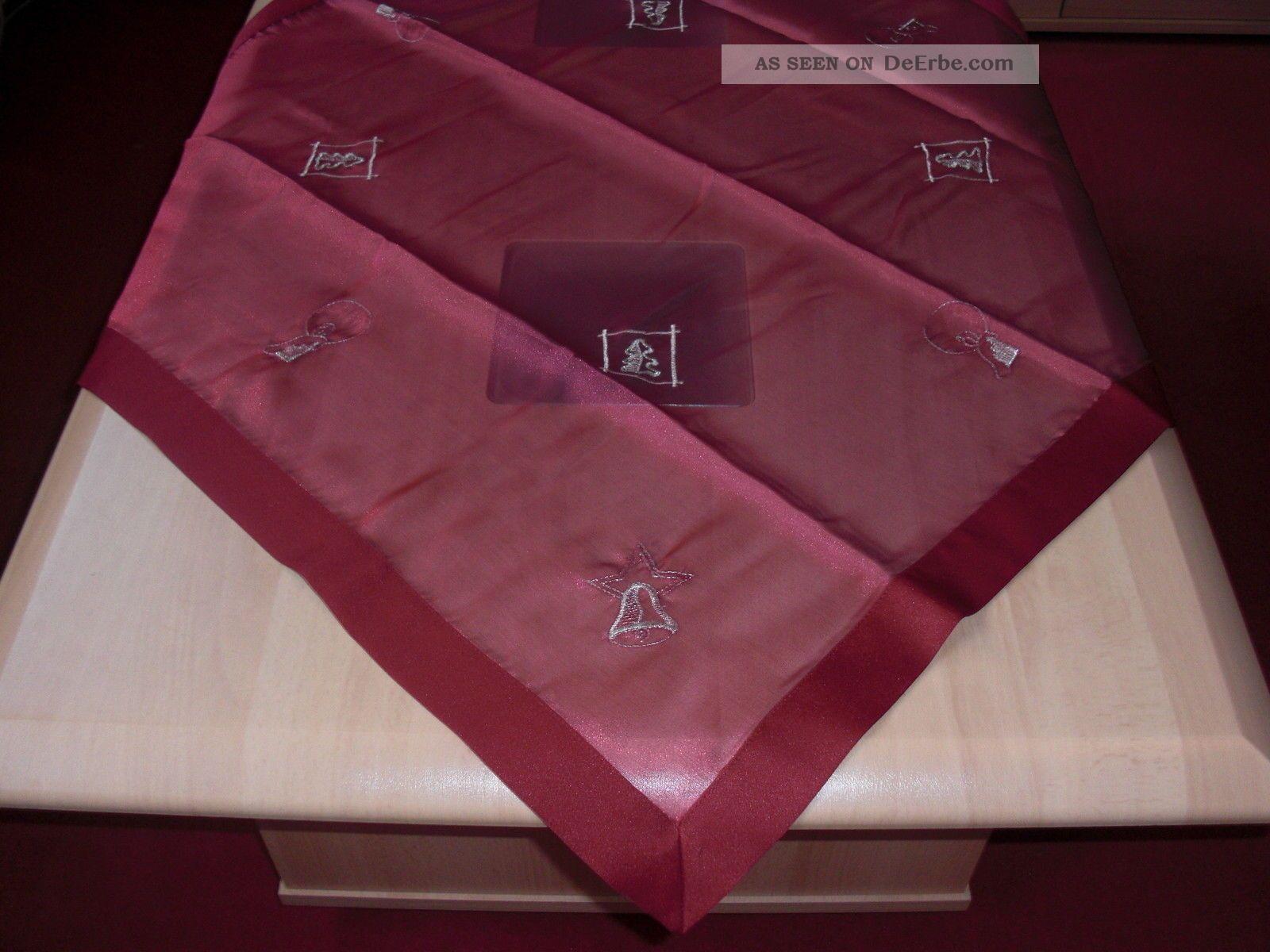 weihnachts tischdecke mitteldecke 78 x 78 cm rot beere. Black Bedroom Furniture Sets. Home Design Ideas