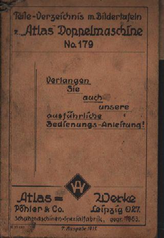 Leipzig,  Katalog 1935,  Atlaswerke Pöhler & Co Schuh - Maschinen - Fabrik Nähmaschine Bild