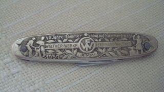 Altes Taschenmesser 1937 Walther - Werke Grimma Bild