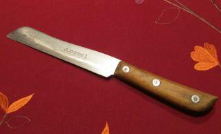 Messer,  Küchenmesser,  Brotmesser - Holzgriff - Otto Hammesfahr Solingen - L 27cm Bild