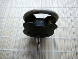 Vorhängeschloss Antik Schloss 1 X Safe - Schlüssel (doppelbarthohlschlü Bild