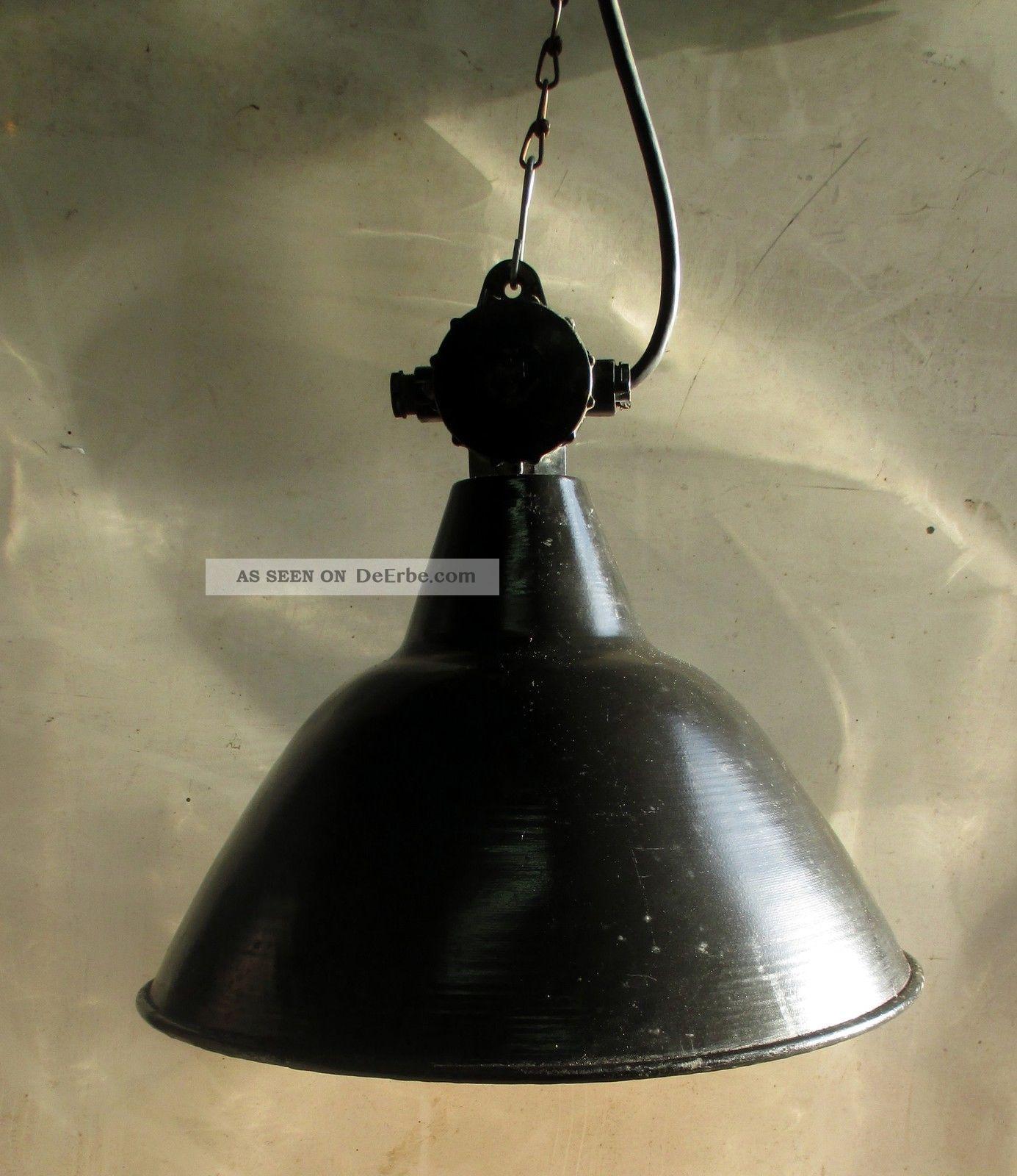 alte fabrik lampe emaile 43cm e27 industrie lampe. Black Bedroom Furniture Sets. Home Design Ideas