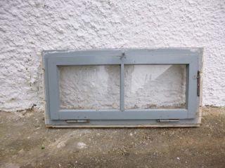 Altes Sprosenfenster Fenster - Mit Glasscheibe Holzrahmen - Abgewittert - Shabby Bild