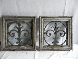 2 Antike Fenster Mit Gitter Eisen Franz.  Lilie Bild