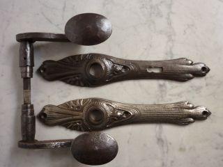 Antike Eiserne Drückergarnitur Jugendstil Bild