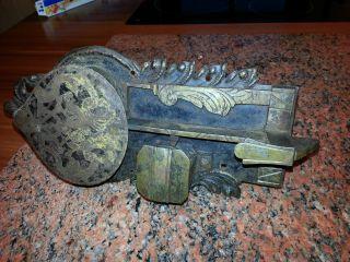 Antikes Türschloss Mit Schlüssel Voll Funktionsfähig Bild