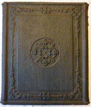 Antike Kaminplatte Ofenplatte Material Kunstguß Ca.  1850 Bild