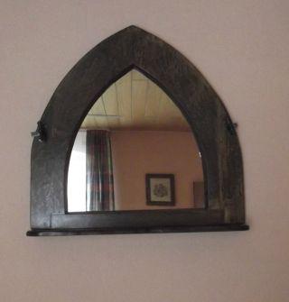 Antikes Fenster Mit Spiegel (spiegelfenster) Massiv Eiche Bild