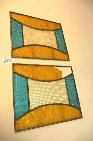 Nr.  905.  2.  Alte Jugendstil Bleiglas Glasscheiben Bleiglas Bild