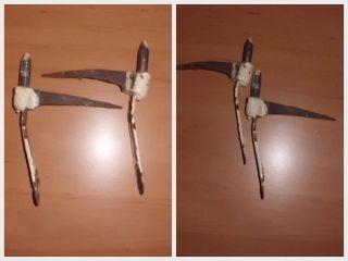 Eisenschaniere Türhaspen Alte Haspen Einschlaghaspen Kloben Einschlagkloben Bild