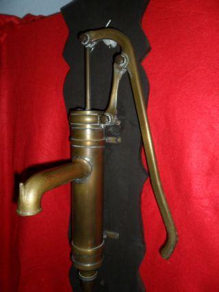 Antike Schwengelpumpe Pumpe Messing Rarität Nachlass Oma Garten Wasser Deko Top Bild