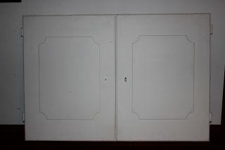 2 Alte Schranktüren Für Einbauschrank Kleiderschrank Wandpaneele Shabby Chic Bild