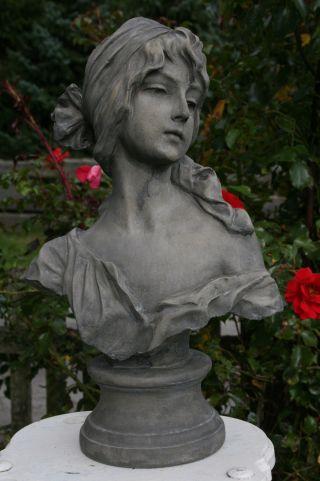 Cendrillon,  Steinfigur Jugendstil - Büste Nach Villanis Weihnachts - Rabatt - Aktion Bild