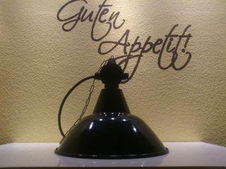 Emaillelampe,  Art Deko,  Bauhaus Emaillelampe,  Werkstattlampe, Bild