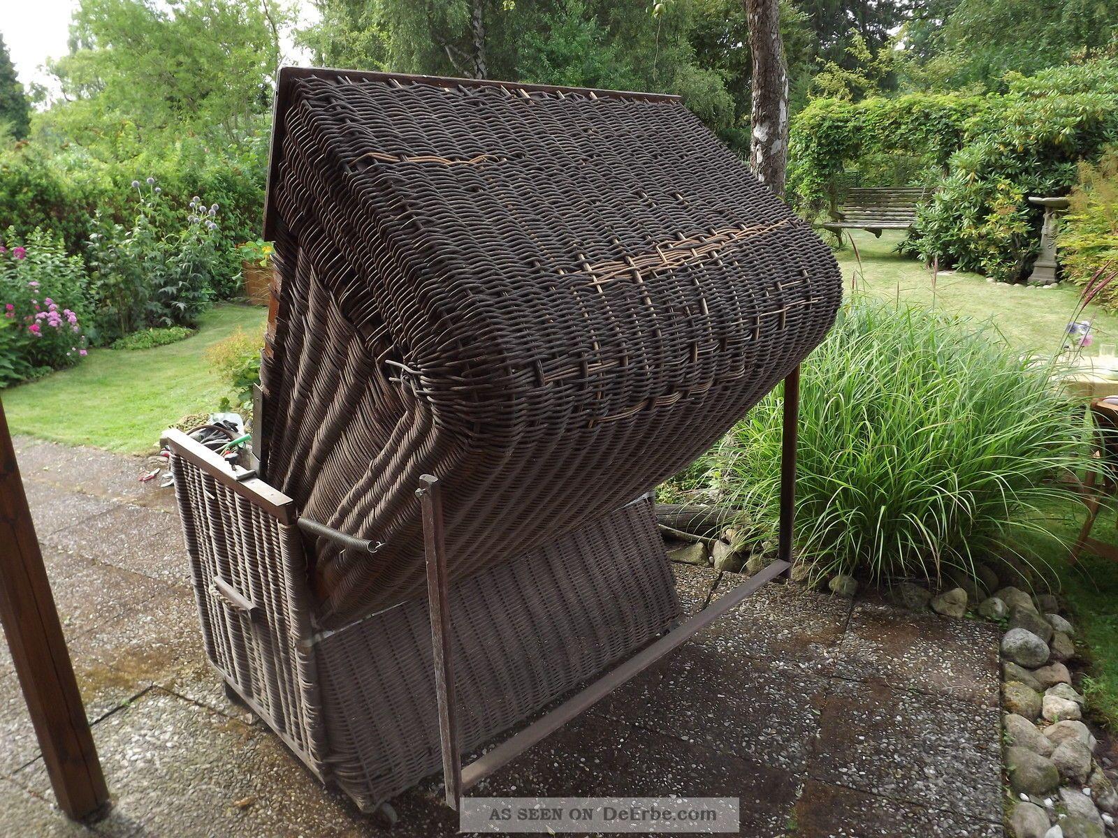 antik garten gro er weiden strandkorb auf rollen herbstpreis 88 88eur. Black Bedroom Furniture Sets. Home Design Ideas