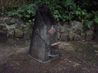 Alte Metall - Kohlenschütte Mit Henkel Kohlenkasten Kübel Eimer Kamin Ofen Herd Bild