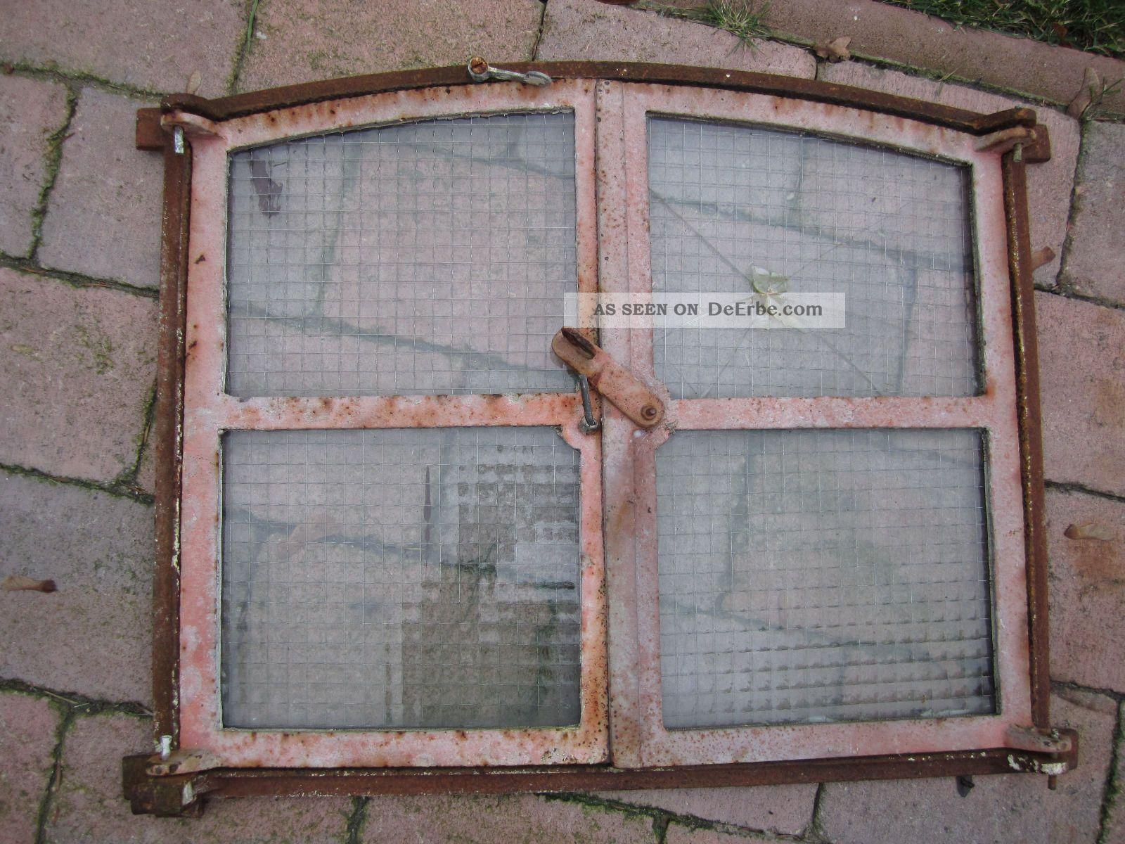 Antikes gusseisenfenster stallfenster altes fenster 66x51cm - Altes fenster dekorieren ...
