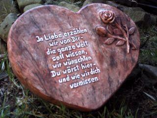 Grabstein Herz,  Ihr Wunschtext Bild