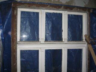 Historisches Fenster Pitchpine Holz Gründerzeit 1893 Rahmen Mit 6 Flügeln Groß Bild