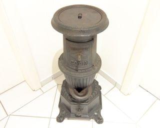 Antiker Kleiner Belgischer Guss - Ofen Ca.  1900 Bild