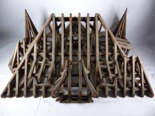 Uralt Dachstuhl Meisterstück / Gesellenstück / Modell Vor 1900 Bild