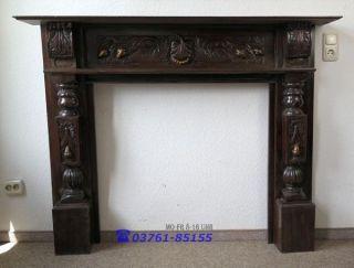 Kaminverkleidung Kaminumrandung Fireplace Kamin - Konsole Holz Zum Aufarbeiten Bild