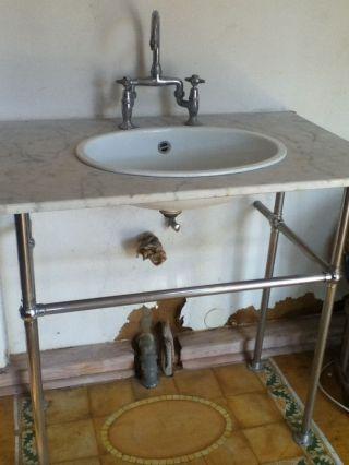 Waschtisch marmor antik