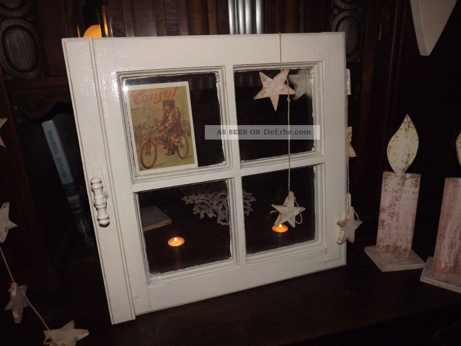 Antikes Fenster Shabby Chic Top Deko Weihnachten Vintage