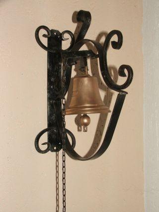 Gr.  Glocke Bronze - Messing - Tür - Torglocke - Schiffsglocke - Hofglocke 1824 Bild