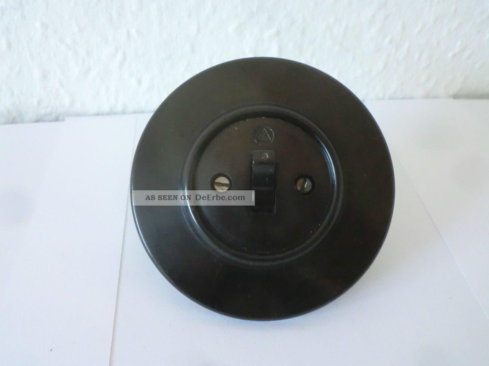 bakelit schalter porzellan unterputz vintage wei antik. Black Bedroom Furniture Sets. Home Design Ideas