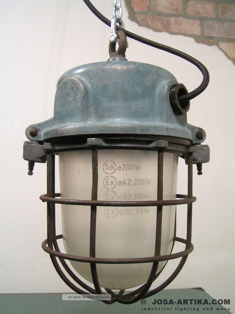 ika bunkerlampe ex lampe vintage industrial light. Black Bedroom Furniture Sets. Home Design Ideas