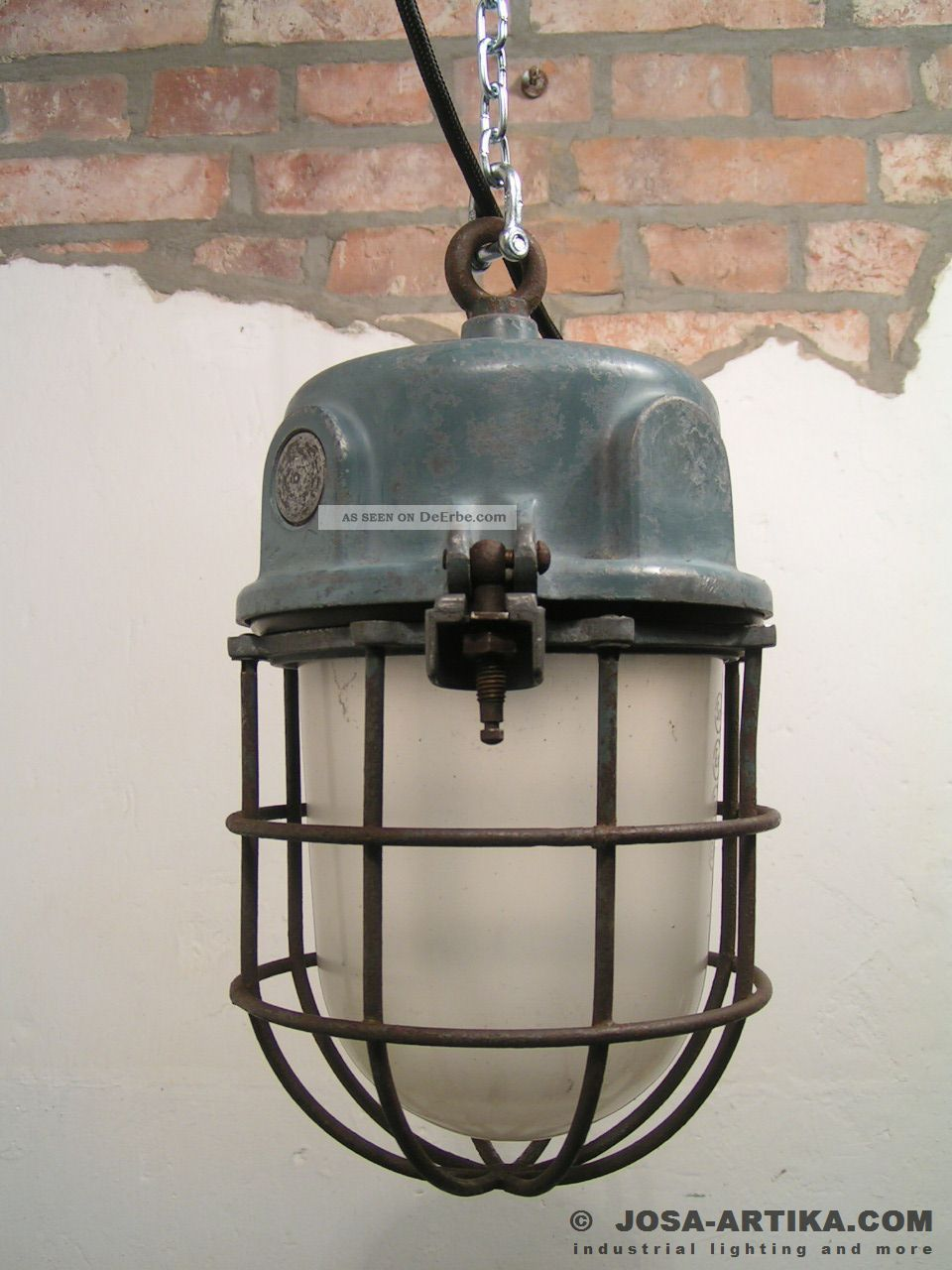 ika bunkerlampe ex lampe vintage industrial light. Black Bedroom Furniture Sets. Home Design Ideas
