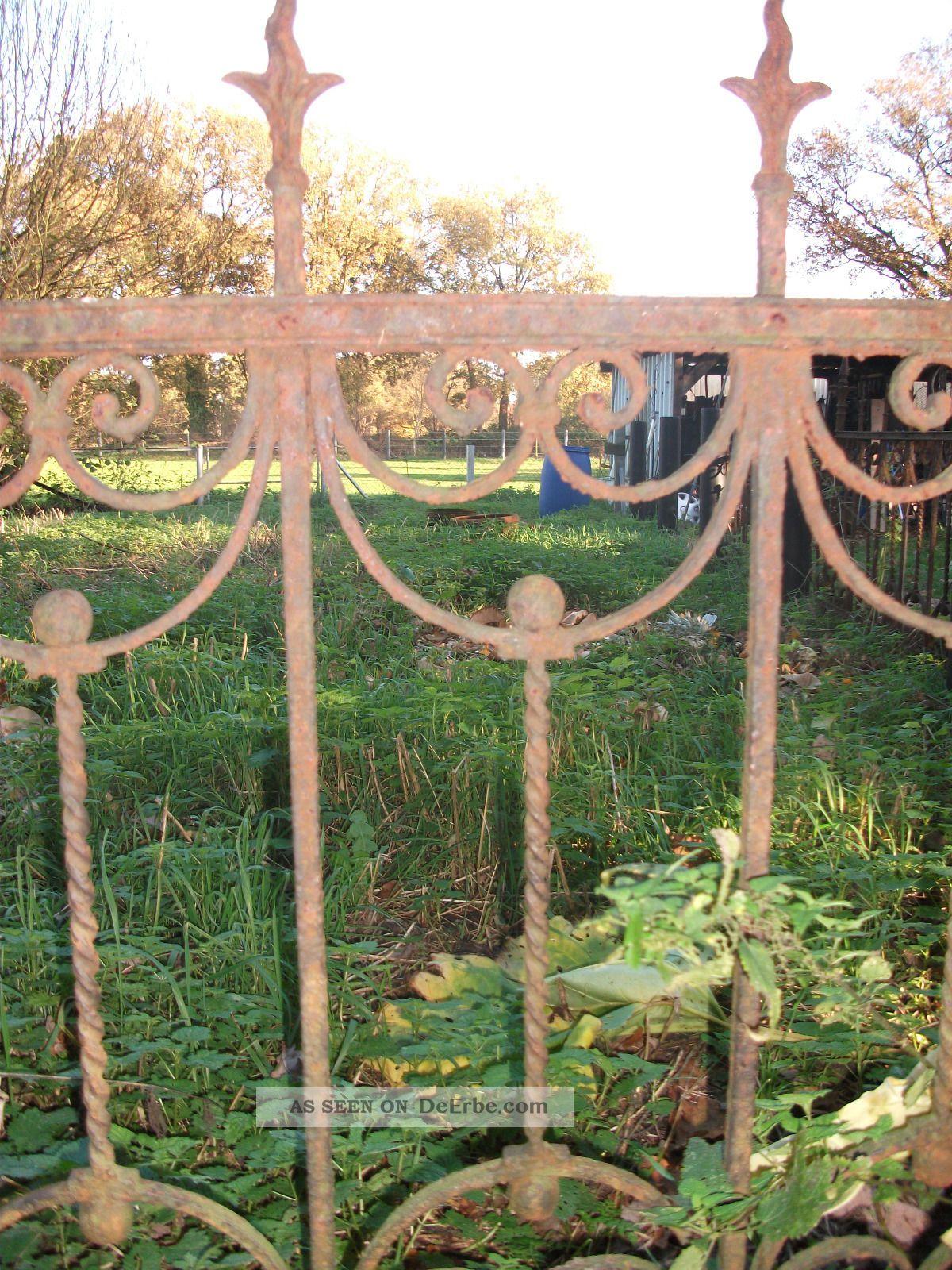 Alter Antiker Historisch Zaun 1 10 M Hoch Schmiedeeisen Haus Garten