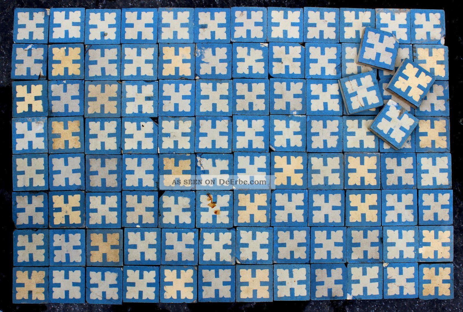 100x Einleger Fliese Kachel Jugendstil Villeroy Boch Rare Art Noveau
