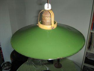 Emailleschirmlampe,  Hängelampe,  Fabriklampe,  Bauhaus,  Loft. Bild
