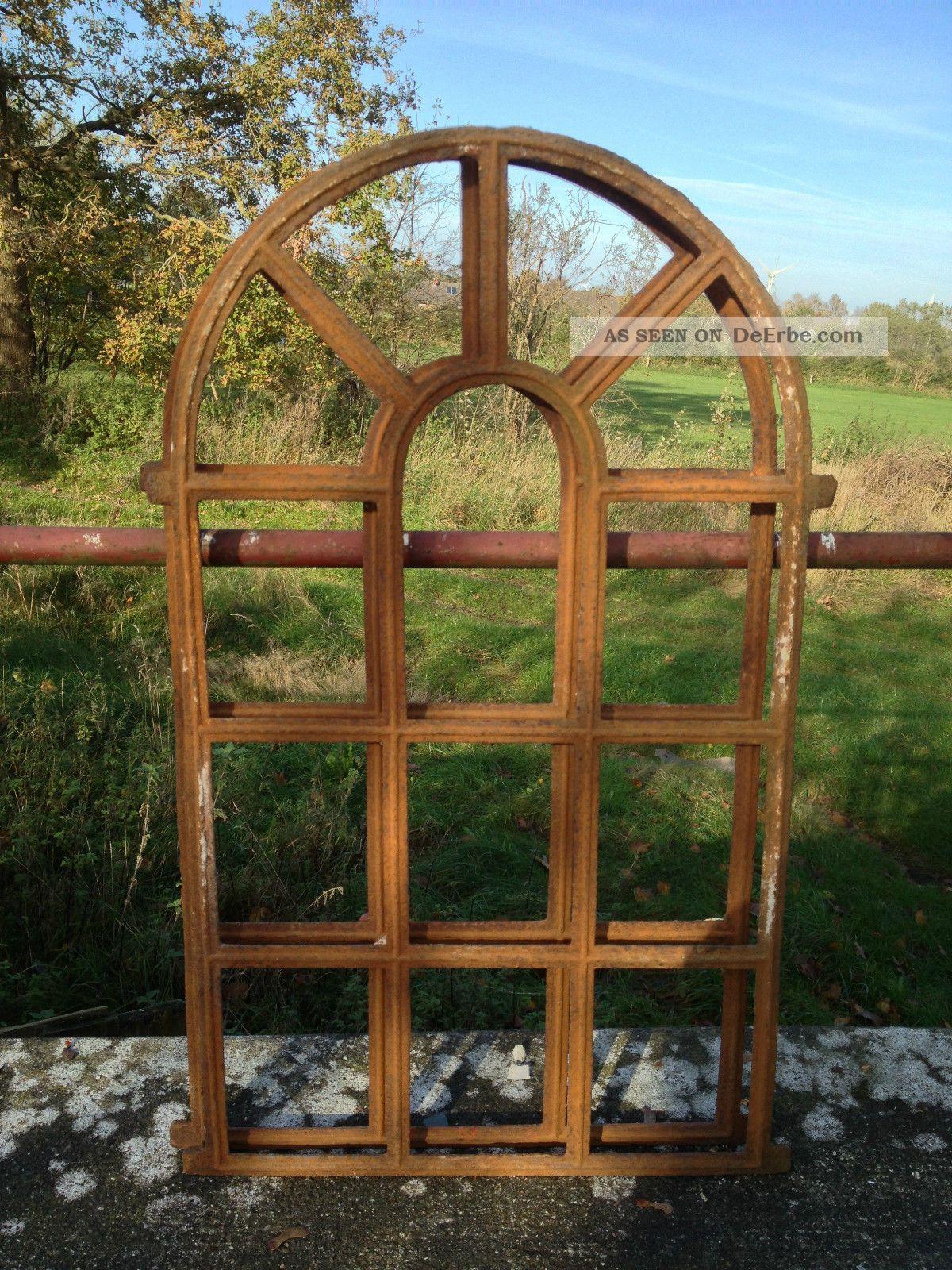 Antike stallfenster aus gusseisen rundbogen eisenfenster - Antike fensterladen ...